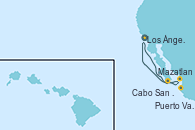 Visitando Los Ángeles (California), Cabo San Lucas (México), Mazatlan (México), Puerto Vallarta (México), Los Ángeles (California)