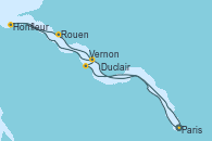 Visitando Paris (Francia), Paris (Francia), Vernon (Francia), Duclair (Francia), Honfleur (Francia), Rouen (Francia), Rouen (Francia), Paris (Francia)