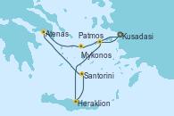 Visitando Kusadasi (Efeso/Turquía)Patmos (Grecia), Heraklion (Creta), Santorini (Grecia), Atenas (Grecia), Mykonos (Grecia), Kusadasi (Efeso/Turquía)
