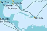 Visitando Los Ángeles (California), Santa Bárbara (California), San Francisco (California/EEUU), San Francisco (California/EEUU), Monterey (California), Isla Catalina (República Dominicana), San Diego (California/EEUU), Ensenada (México), Los Ángeles (California)