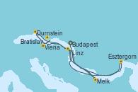 Visitando Budapest (Hungría), Budapest (Hungría), Budapest (Hungría), Esztergom (Hungría), Bratislava (Eslovaquia), Viena (Austria), Viena (Austria), Durnstein (Austria), Melk (Austria), Linz (Austria), Linz (Austria)