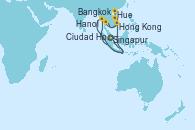 Visitando Singapur, Singapur, Bangkok (Tailandia), Bangkok (Tailandia), Ciudad Ho Chi Minh (Vietnam), Hue (Vietnam), Hanoi (Vietnam), Hanoi (Vietnam), Hong Kong (China), Hong Kong (China)