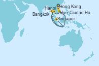 Visitando Hong Kong (China), Hong Kong (China), Hanoi (Vietnam), Hanoi (Vietnam), Hue (Vietnam), Ciudad Ho Chi Minh (Vietnam), Bangkok (Tailandia), Bangkok (Tailandia), Bangkok (Tailandia), Singapur, Singapur