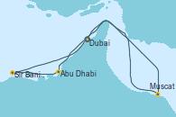Visitando Dubai (Emiratos Árabes Unidos), Dubai (Emiratos Árabes Unidos), Abu Dhabi (Emiratos Árabes Unidos), Sir Bani Yas Is (Emiratos Árabes Unidos), Muscat (Omán), Dubai (Emiratos Árabes Unidos), Dubai (Emiratos Árabes Unidos)