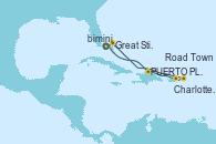 Visitando Puerto Cañaveral (Florida), PUERTO PLATA, REPUBLICA DOMINICANA, Charlotte Amalie (St. Thomas), Road Town (Isla Tórtola/Islas Vírgenes), Great Stirrup Cay (Bahamas), Puerto Cañaveral (Florida)