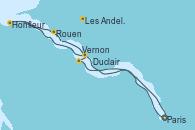 Visitando Paris (Francia), Paris (Francia), Vernon (Francia), Duclair (Francia), Honfleur (Francia), Rouen (Francia), Les Andelys (Francia), Paris (Francia)