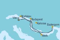 Visitando Viena (Austria), Melk (Austria), Bratislava (Eslovaquia), Kalocsa (Hungría), Budapest (Hungría), Esztergom (Hungría), Viena (Austria), Viena (Austria)
