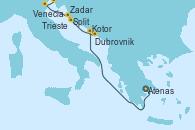 Visitando Atenas (Grecia), Kotor (Montenegro), Dubrovnik (Croacia), Split (Croacia), Zadar (Croacia), Venecia (Italia), Trieste (Italia)