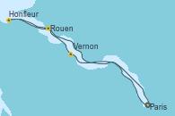 Visitando Paris (Francia), Paris (Francia), Vernon (Francia), Rouen (Francia), Honfleur (Francia), Honfleur (Francia), Paris (Francia)