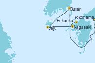 Visitando Yokohama (Japón), Busán (Corea del Sur), Jeju (Corea del Sur), Nagasaki (Japón), Fukuoka (Japón)