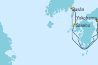 Visitando Yokohama (Japón), Busán (Corea del Sur), Sasebo (Japón), Yokohama (Japón)