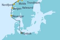 Visitando Rostock (Alemania), Stavanger (Noruega), Bergen (Noruega), Molde (Noruega), Nordfjordeid, Aalesund (Noruega), Trondheim (Noruega)