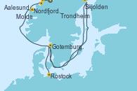 Visitando Trondheim (Noruega), Molde (Noruega), Aalesund (Noruega), Nordfjordeid, Skjolden (Noruega), Gotemburgo (Suecia), Rostock (Alemania)
