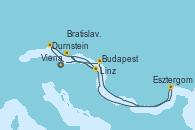 Visitando Viena (Austria), Viena (Austria), Durnstein (Austria), Linz (Austria), Bratislava (Eslovaquia), Budapest (Hungría), Esztergom (Hungría), Viena (Austria)