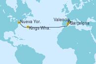 Visitando Barcelona, Valencia, Kings Wharf (Bermudas), Nueva York (Estados Unidos)