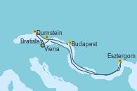 Visitando Viena (Austria), Viena (Austria), Durnstein (Austria), Budapest (Hungría), Budapest (Hungría), Esztergom (Hungría), Bratislava (Eslovaquia), Viena (Austria)