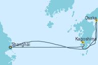 Visitando Shanghái (China), Osaka (Japón), Osaka (Japón), Kagoshima (Japón), Shanghái (China)