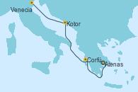 Visitando Atenas (Grecia), Corfú (Grecia), Kotor (Montenegro), Venecia (Italia)