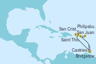 Visitando Bridgetown (Barbados), San Juan (Puerto Rico), Saint Thomas (Islas Vírgenes), San Cristóbal y Nieves, Bridgetown (Barbados)