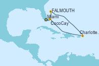 Visitando Miami (Florida/EEUU), FALMOUTH, Charlotte Amalie (St. Thomas), CocoCay (Bahamas), Miami (Florida/EEUU)