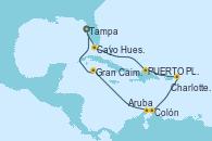 Visitando Tampa (Florida), Cayo Hueso (Key West/Florida), PUERTO PLATA, REPUBLICA DOMINICANA, Charlotte Amalie (St. Thomas), Colón, Aruba (Antillas), Gran Caimán (Islas Caimán), Tampa (Florida)