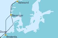 Visitando Dover (Inglaterra), Aalesund (Noruega), Stavanger (Noruega), Ámsterdam (Holanda), Dover (Inglaterra)