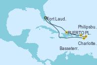 Visitando Fort Lauderdale (Florida/EEUU), PUERTO PLATA, REPUBLICA DOMINICANA, Charlotte Amalie (St. Thomas), Philipsburg (St. Maarten), Basseterre (Antillas), Fort Lauderdale (Florida/EEUU)